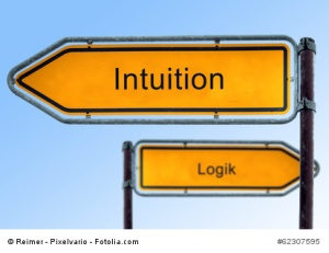 Strassenschild 5 - Intuition